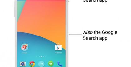 Googlen hakusovellus valtaa alaa kotinäkymästä. Ars Technican kuva.
