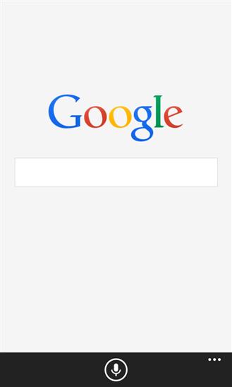 Google-hakusovellus Windows Phonelle