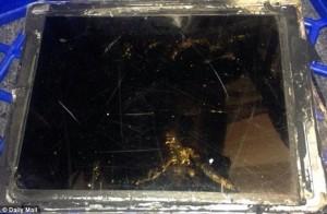 Räjähtänyt iPad Air