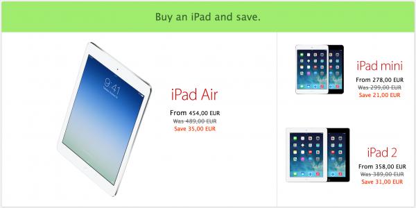 iPadeista saa alennusta Applen kaupasta vain tänään