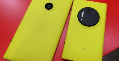 Nokia Lumia 1520 vs. Lumia 1020.