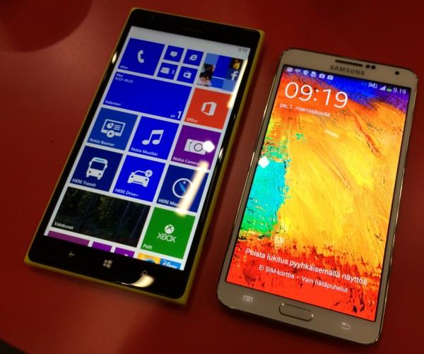 Lumia 1520 vs. Galaxy Note 3