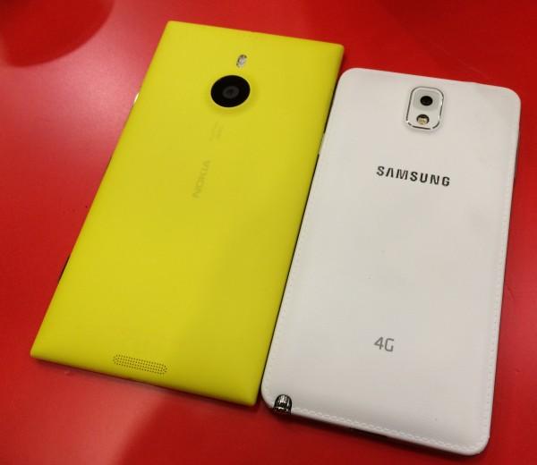 Lumia 1520 vs. Galaxy Note 3 takaa