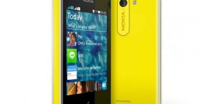 Nokia Asha 503 keltaisena