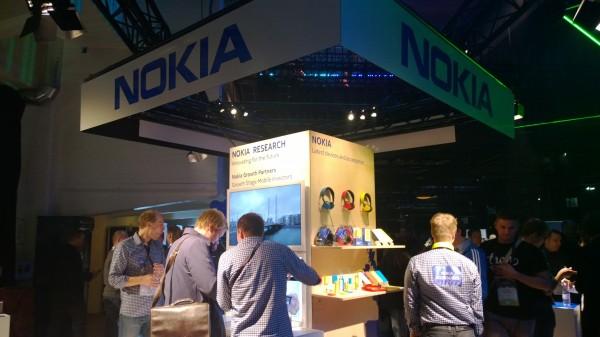 Nokian osastoa Slushissa
