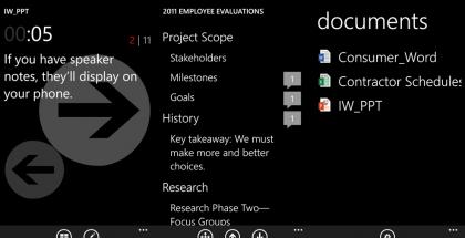 Office Remote -sovellus Windows Phonessa