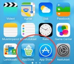 Kun App Store -ostot tekee normaalikuvakkeen sijaan Ostohyvityksen kuvakkeen kautta, saa rahaa takaisin ostoksistaan