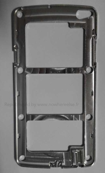 Nowhereelse.fr:n väitetty kuva Samsung Galaxy S5:n metallirungosta