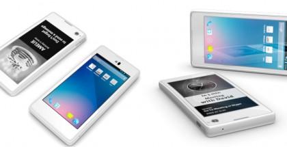 YotaPhone -puhelin kahdella näytöllä