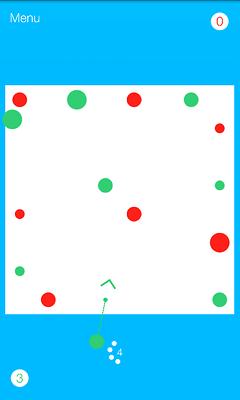 Kuvakaappaus voittajapeli Dots Outista