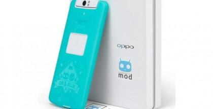 Oppo N1:n CyanogenMod-versio toimitetaan CyanogenMod-tarrojen ja -suojakuoren kera