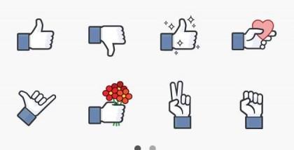 Facebookin uudet tarrat Facebook Messengerissä