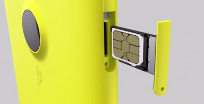 Lumia 1520:n nano-SIM-korttipaikka