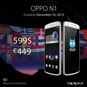 Oppo N1:n hinta Euroopassa on 449 euroa