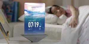 Samsungin näyttövisiossa esimerkiksi herätyskello voisi olla tällainen