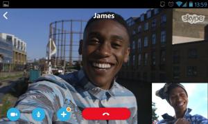 Skype Android-tableteilla