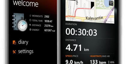 Sports Tracker sykevyötuella Windows Phonelle