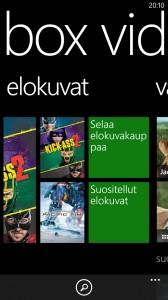 Xbox Videon valikko