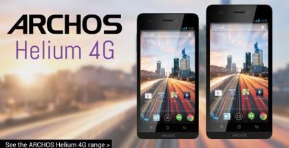 Vasemmalla kuvassa Archos 45 Helium 4G ja oikealla Archos 50 Helium 4G