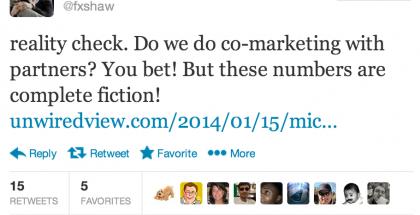 Microsoftin viestintäjohtaja Frank X. Shaw kiisti Murtazinin esittämät luvut