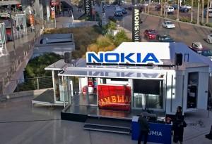 Nokia pystytti CES-messujen viereen esittelykioskinsa
