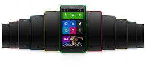 Nokia Normandy useissa eri väreissä aiemmin julkaistussa vuotokuvassa