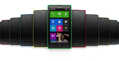 Nokia X:n kuuden värivaihtoehdon valikoima @evleaksin aiemmin vuotamassa kuvassa