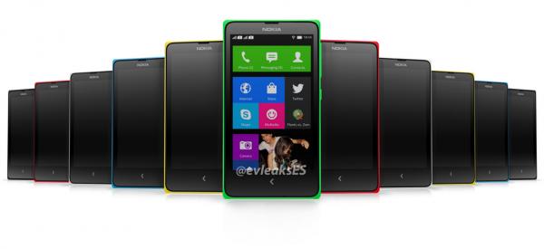 Vihreä väri on kuulumassa myös Nokia X:n kuuden värivaihtoehdon valikoimaan, kertoo @evleaksin aiemmin vuotama kuva
