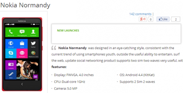 Nokia Normandy vietnamilaisverkkokaupassa