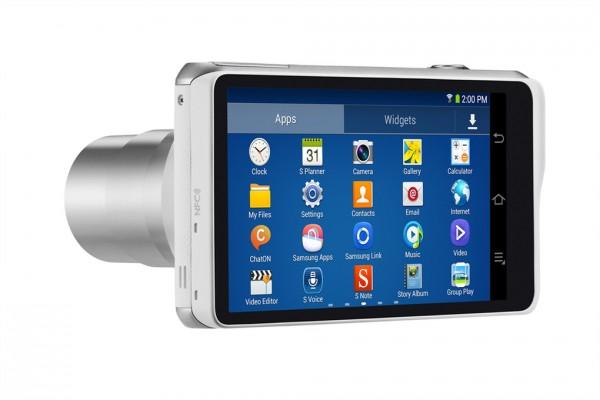 Samsung Galaxy Camera 2 vaaleana värivaihtoehtona takaa