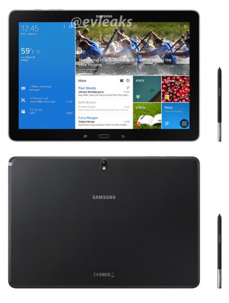 Samsung Galaxy Note PRO 12.2 @evleaksin julkaisemassa kuvassa