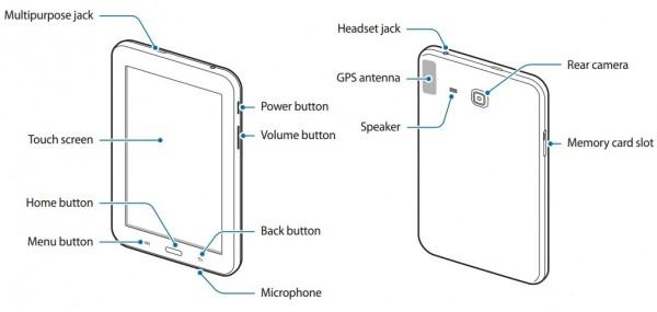 Samsungin uusi Galaxy Tab -halpatabletti ohjekirjan kuvissa