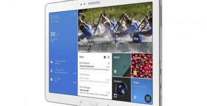 Samsung Galaxy Tab PRO 10.1 ja näytöllä Samsungin Magazine UX, josta Googlella ei raportoidusti tykätty