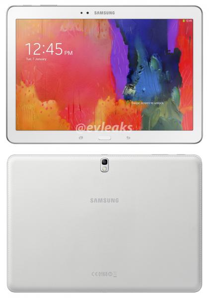 Samsung Galaxy Tab PRO 10.1 @evleaksin julkaisemassa kuvassa