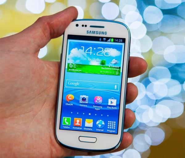 Käyttöliittymä näyttää samalta kuin Galaxy S3:ssa, muttei istu yhtä hyvin Minin pienemmälle näytölle.