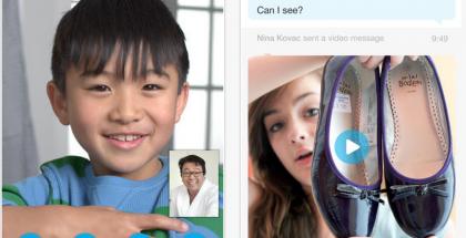 Kuvankaappauksia Skypen iPhone-versiosta