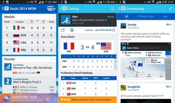 Samsungin Sochi WOW 2014 -sovellus