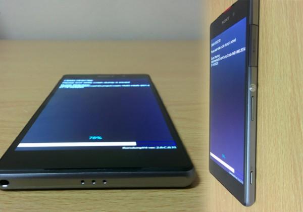 Sonyn D6503-mallikoodillisesta puhelimesta xda-developers-keskustelupalstalla julkaistuja kuvia