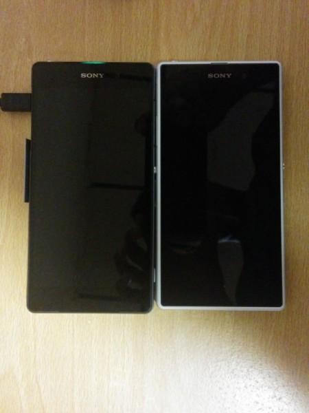 Sony D6503 / Sirius vasemmalla ja nykyinen myynnissä oleva Xperia Z1 oikealla Xperia Blogin julkaisemassa kuvassa