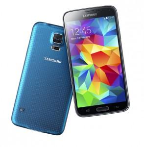 Samsung Galaxy S5 sinisenä värivaihtoehtona