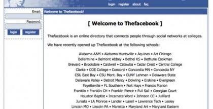 Thefacebook silloin alussa