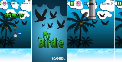 Fly Birdie - Flappy Bird Flyer on yksi Flappy Bird -manian kopioivista hyödyntäjistä