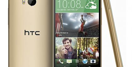 HTC:n uusi One kultaisena väriversiona @evleaksin aiemmin vuotamassa lehdistökuvassa
