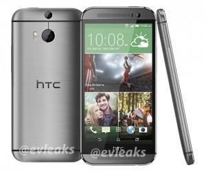 HTC:n uusi One hopeisena väriversiona @evleaksin aiemmin vuotamassa lehdistökuvassa