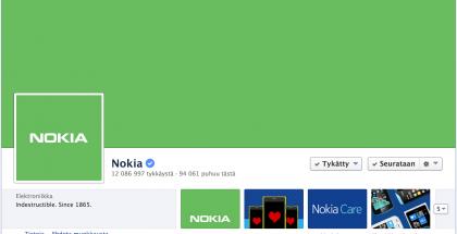 Nokia värjäsi Facebook-sivunsa vihreäksi ystävänpäivänä