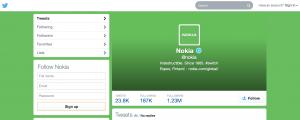 Nokian vihreä Twitter-tili