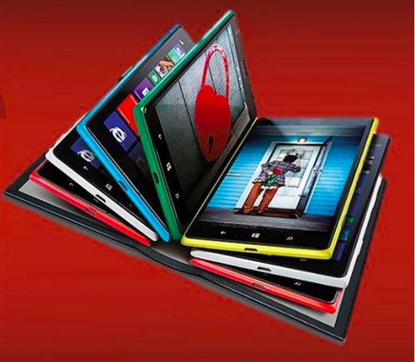 Mahdolliset uudet Lumia 1520 -värit Nokian Facebookissa julkaisemassa kuvassa