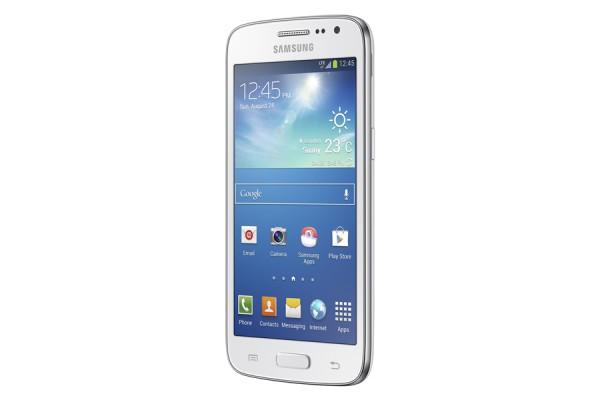 Samsung Galaxy Core valkoisena edestä