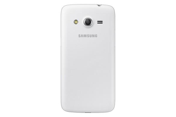 Samsung Galaxy Core valkoisena takaa