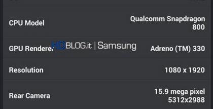 Väitettyjä Galaxy S5:n tietoja AnTuTu-suorituskykymittausohjelmistosta